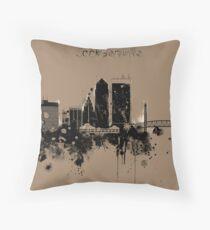 Jacksonville Florida Skyline Canvas Print Throw Pillow