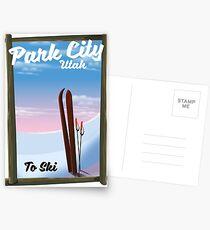 Park city Utah Ski travel poster Postcards