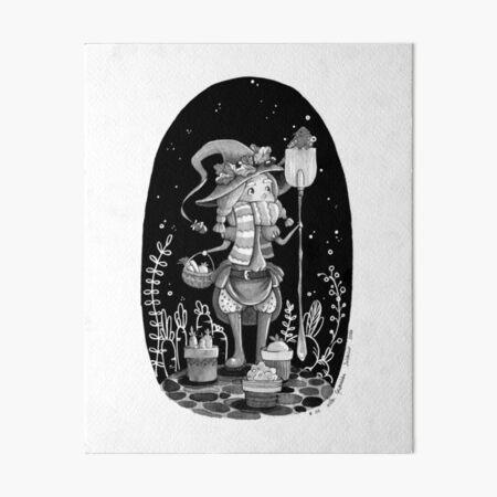 Inktober 2017 - The Garden Witch Art Board Print