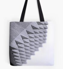 Black and White spikes Tote Bag