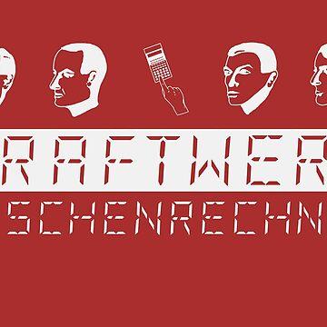 Kraftwerk Taschenrechner (white) by jotibbs