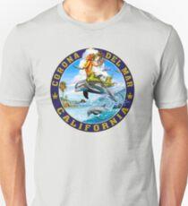 Coron Del Mar California Dolphin Mermaid T-Shirt