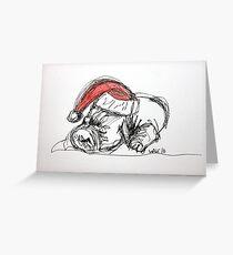 Christmas Peace Puppy III Greeting Card