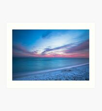 If By Sea - Sunset on the Beach Near Destin Florida Art Print