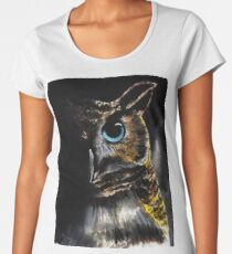 blue-eyed owl Women's Premium T-Shirt