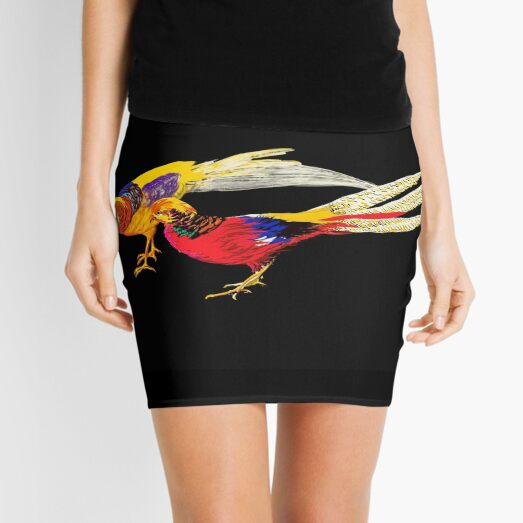 Pheasants at Night Mini Skirt