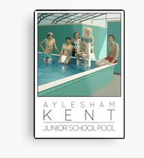 Lido Poster Aylesham Junior School Metal Print