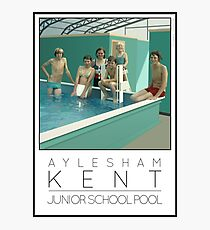 Lido Poster Aylesham Junior School Photographic Print