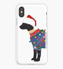 Black Lab Ugly Christmas Sweater iPhone Case/Skin