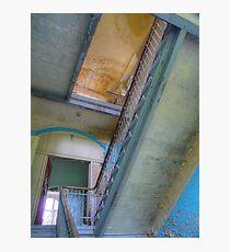 Lost Place ..., Beelitz Heilstaetten stairs Photographic Print