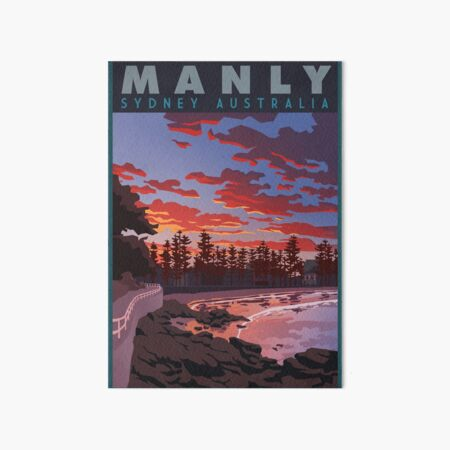 Beautiful Swell at Manly Beach Art Board Print