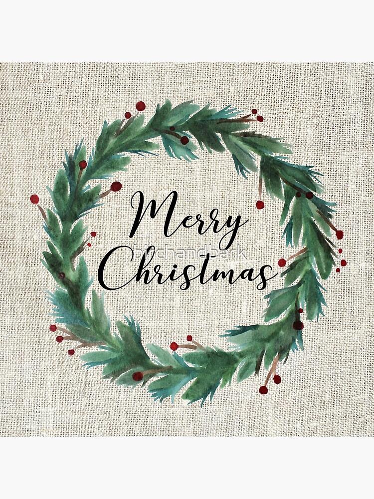 Christmas wreath by birchandbark