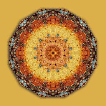 Rust-Art / mandala-style-rust 003, Rust Mandala  by RaSch