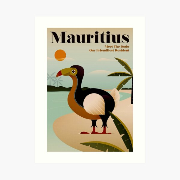 MAURITIUS; Vintage Travel and Tourism Print Art Print