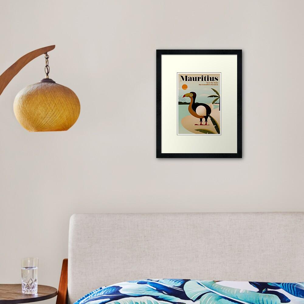 MAURITIUS; Vintage Travel and Tourism Print Framed Art Print