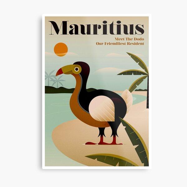MAURITIUS; Vintage Travel and Tourism Print Metal Print