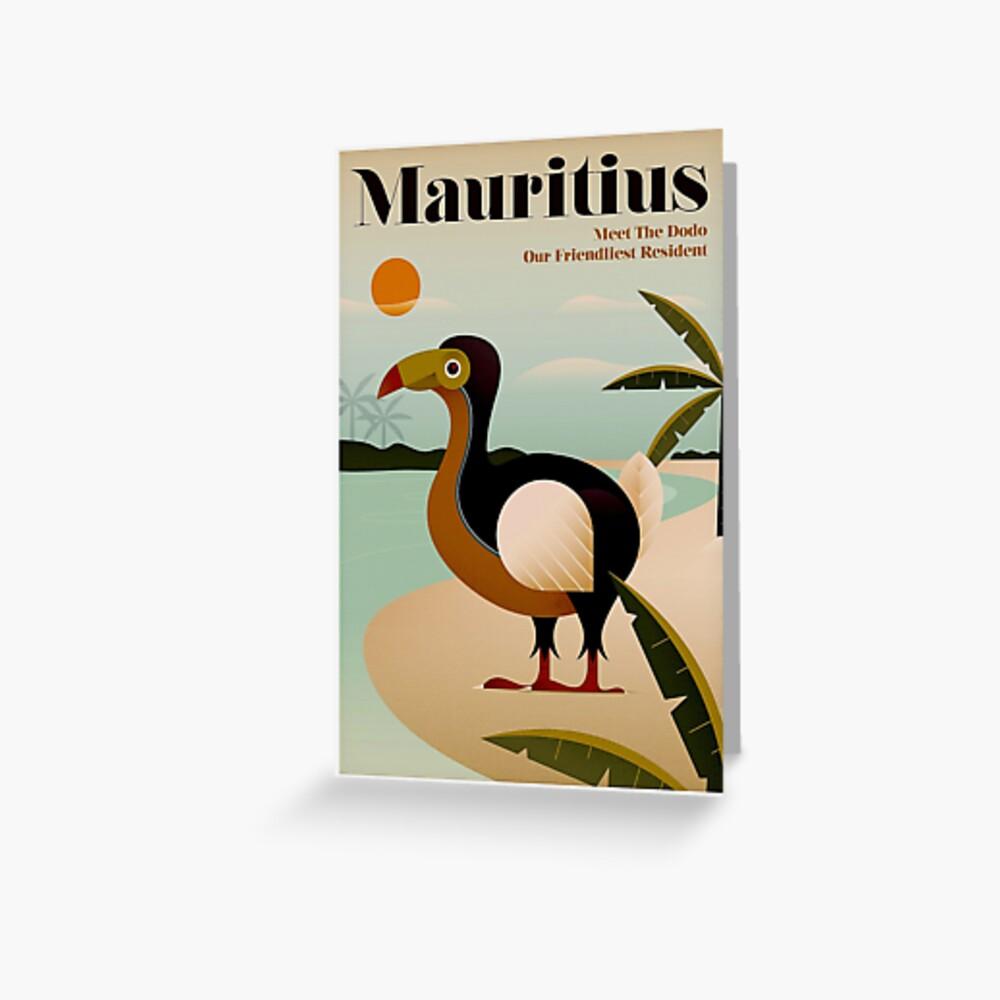 MAURICIO; Viaje de la vendimia y impresión del turismo Tarjetas de felicitación