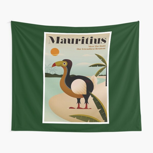 MAURITIUS; Vintage Travel and Tourism Print Tapestry