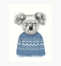Winter koala Art Print