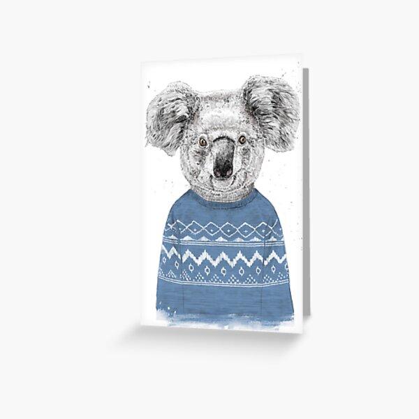 Winter koala Greeting Card