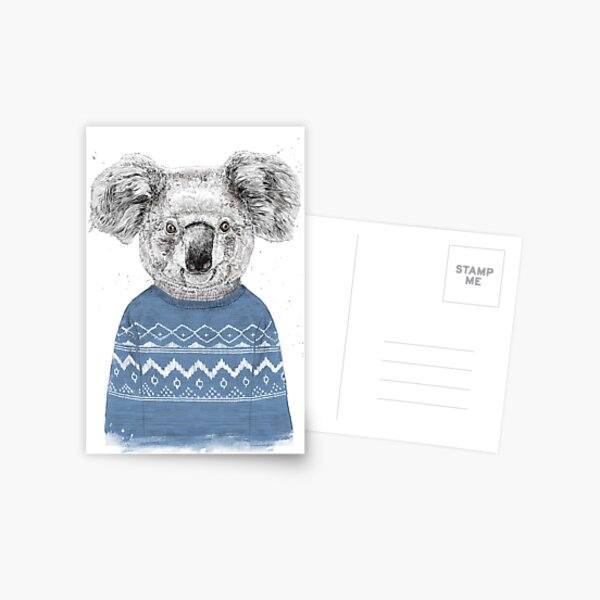 Winter koala Postcard