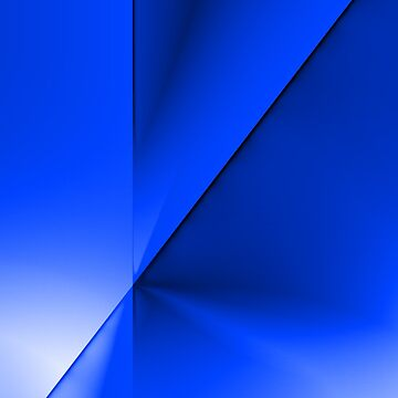 Abstract Angular Blues by tee-fury