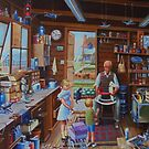 Grandpa's workshop. by Mike Jeffries