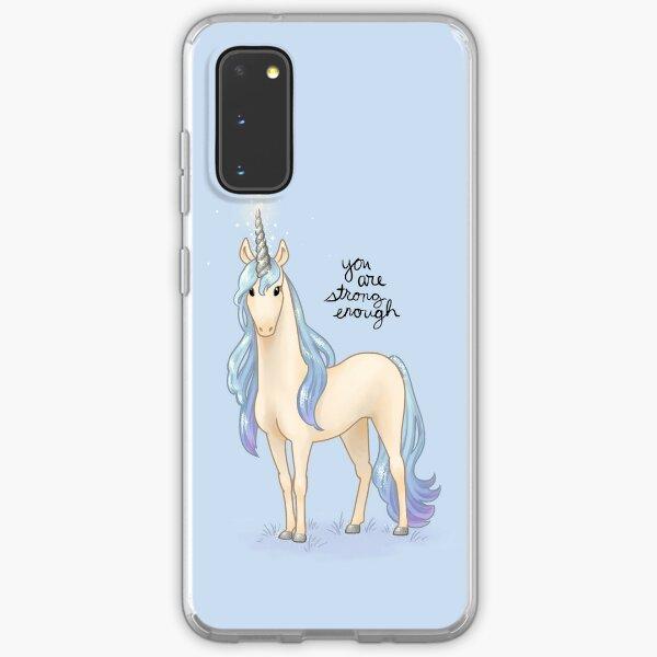"""You Are Strong Enough"" Unicorn Samsung Galaxy Soft Case"