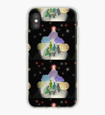 3 E.T. wise men visit Bethlehem in a Starship from the east iPhone Case