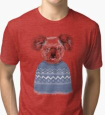 Winter koala Tri-blend T-Shirt