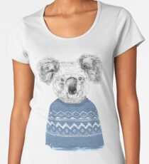Winter koala Women's Premium T-Shirt