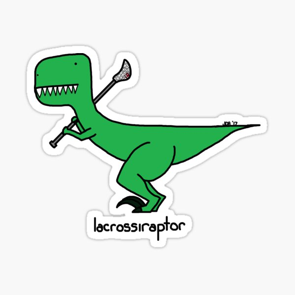 lacrossiraptor Sticker