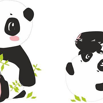 Cute Baby Pink Panda Animal Illustration by cutecutedesigns