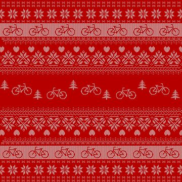 Cycling 'Ugly Sweater' Christmas Jumper for Bikers.  by katecrashed