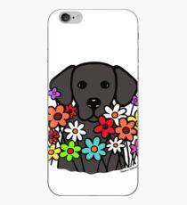 Vinilo o funda para iPhone Hermosas flores negras de Labrador