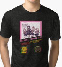 Doki Doki Literature Club NES Cover Tri-blend T-Shirt