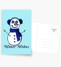 Snowman's Winter Wishes Postcards
