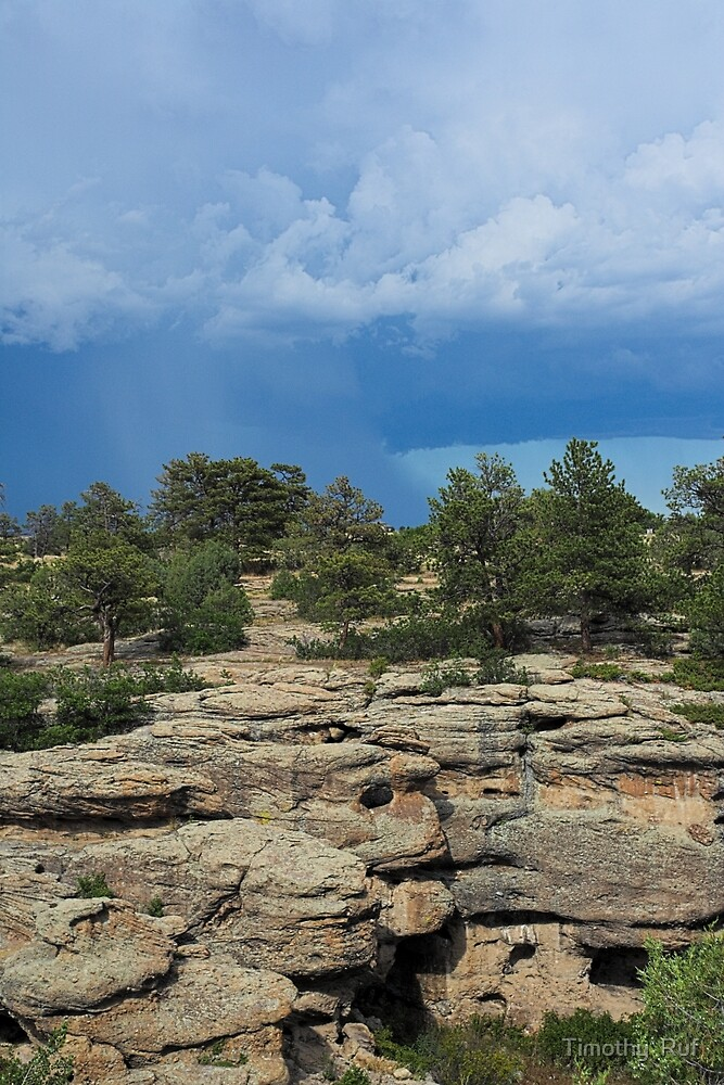 Castlewood Canyon and Storm by Timothy  Ruf