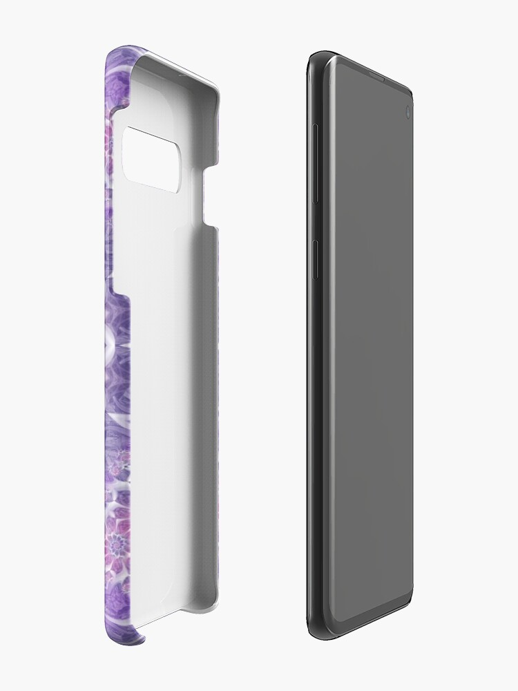Alternate view of Purple and Pink Fractal Mandala Cases & Skins for Samsung Galaxy