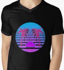 Drive Down Vapor Wave Men's V-Neck T-Shirt