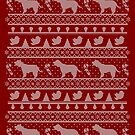 Ugly Christmas sweater dog edition - Cockerspaniel red by Camilla Mikaela Häggblom