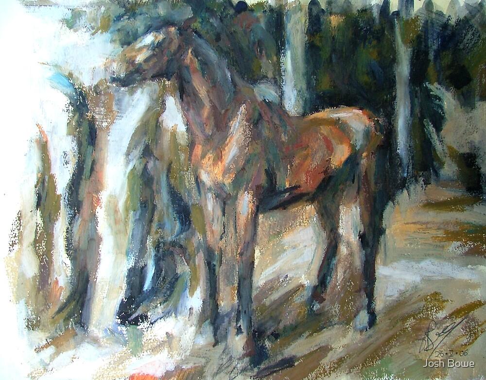 Horse Oil Pastel by Josh Bowe