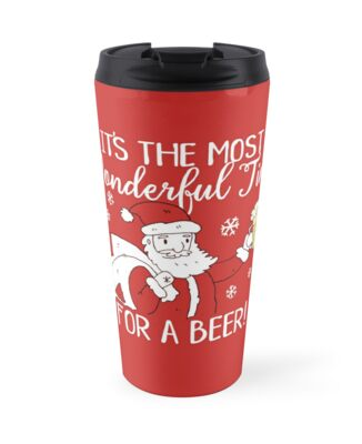 Christmas Most Wonderful Time for a Beer Santa by ironydesigns