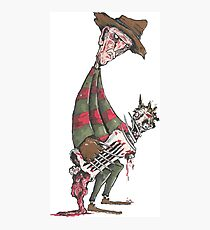 Freddy Krueger Illustrated by Matthew Corkery Photographic Print