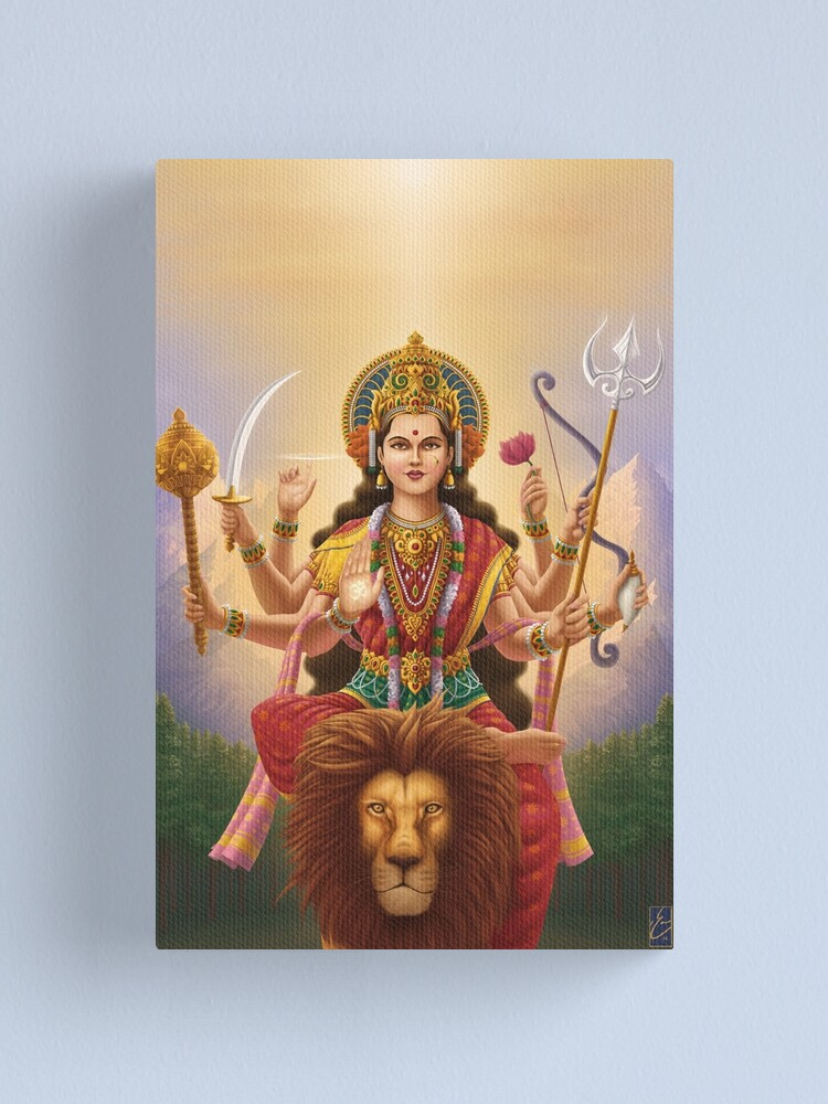Alternate view of Goddess Durga Canvas Print