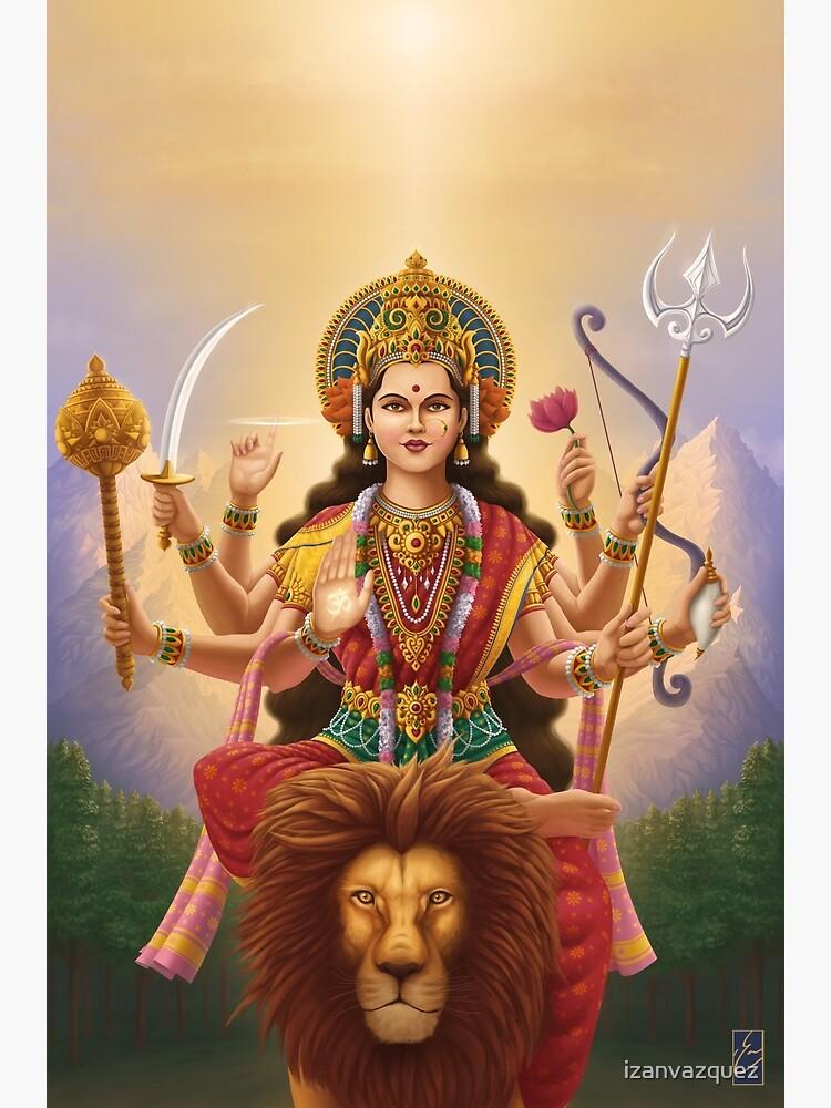 Goddess Durga by izanvazquez