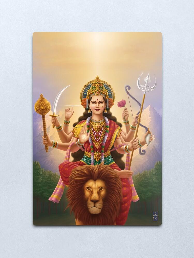 Alternate view of Goddess Durga Metal Print
