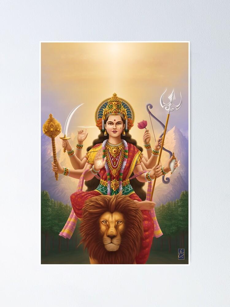 Alternate view of Goddess Durga Poster