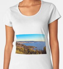 Evening after the Barcolana regatta of record in the gulf of Trieste Women's Premium T-Shirt