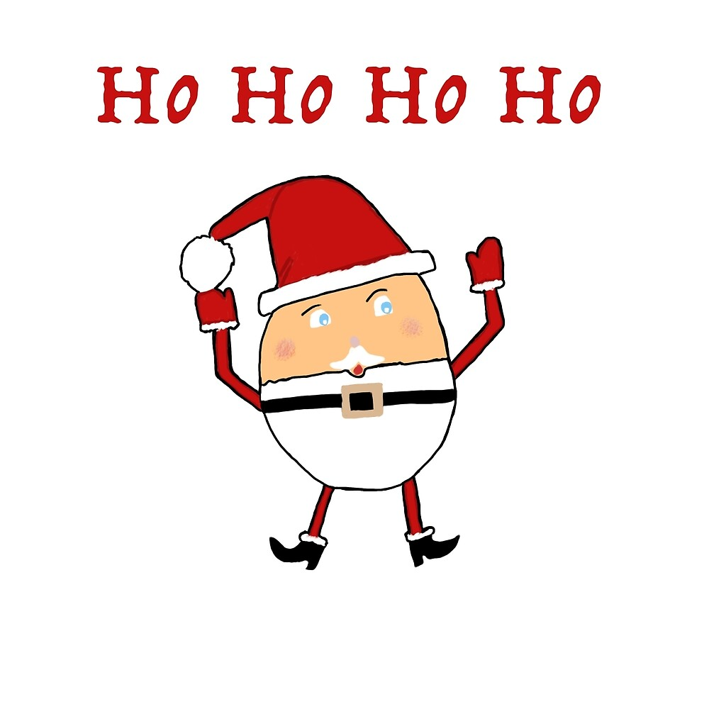 Humpty Santa Claus And Ho Ho Ho Pattern by lasgalenarts